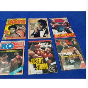 Lot Of 6 Various Vintage Boxing Magazines tyson Ra